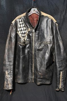 Vintage 60's leather motorcycle biker jacket #MotorcycleJacket #Perfecto #Fashion #DoubleRider #CafeRacer At Eagle Ages we love Motorcycle Jacket. You can find a great choice of  Vintage & Second hands Motorcycle Jacket in our store.  At https://eagleages.com/coats-jackets/men-coats-jackets/motorcycle-jackets.html