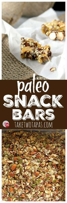 Paleo Snack Bars for your dieting needs | Take Two Tapas