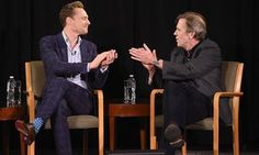 Tom Hiddleston Photos - Tom Hiddleston and Hugh Laurie speak onstage during The New York Times TimesTalks at Directors Guild of America Theater on April 2016 in New York City. - Hugh Laurie and Tom Hiddleston: A Timestalk Conversation Thomas William Hiddleston, Tom Hiddleston Loki, Social Class, Hugh Laurie, British Academy Film Awards, Royal Albert Hall, British Men, Married Woman, Working Class