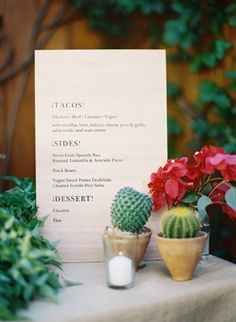 I'm kind of digging the juxtaposition of including very small cacti (just the green, no floral) with the soft romantic coastal vibe.... possibly in small milkglass or other egg=like containers? | Mexican beach wedding | Colorful San Ysidro Ranch Rehearsal Dinner | LFF Designs | www.facebook.com/LFFdesigns