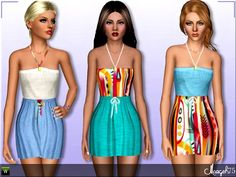 Epic Spring dress by Margie - Sims 3 Downloads CC Caboodle