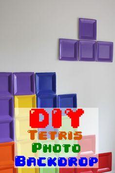 DIY Tetris Photo Backdrop...!