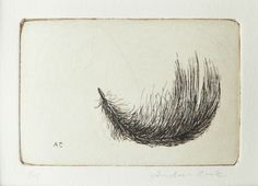 original etching of a feather door atelier28 op Etsy https://www.etsy.com/nl/listing/96913503/original-etching-of-a-feather