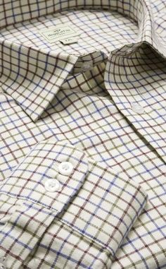 These pure cotton Tattersall check shirts are perfect with our countrywear range for a casual weekend look. Astonishing value.