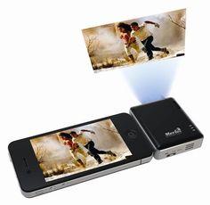 Мини проектор совместимый с мобильными устройствами под управлением операционной системы iOS: iPhone, iPad и iPod Touch.  http://merlin-digital.com.ua/accessory/merlin-iprojector.html