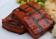Bbq tofu. Press and freeze the tofu before grilling