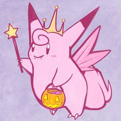 Clefable Pokemon Fairy, Original Pokemon, Catch Em All, Ems, The Darkest, Pikachu, Kawaii, Gen 1, Make It Yourself