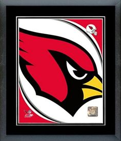 Arizona Cardinals Team Logo Framed With double black matting Ready To Hang- Awesome & Beautiful