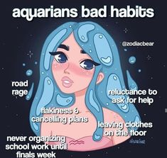 Zodiac Signs Chart, Zodiac Sign Traits, Zodiac Signs Astrology, Zodiac Star Signs, My Zodiac Sign, Zodiac Memes, Aquarius Love, Aquarius Quotes, Aquarius Horoscope