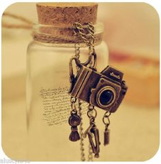 Vintage Camera Pendant Charms Long Necklace FREE SHIPPING $4.99