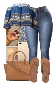 """Summer Fits #2"" by heavensincere ❤ liked on Polyvore featuring Nadri, MICHAEL Michael Kors and Billabong"