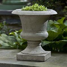 Campania International, Inc Garden Terrace Round Urn Planter Finish: Brownstone
