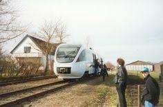 de allerlaatste trein van Stiens naar Leeuwarden op 22 februari 1997.