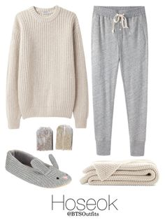 """Rainy Day In with Hoseok"" by btsoutfits ❤ liked on Polyvore featuring Base Range, Steven Alan and John Lewis"