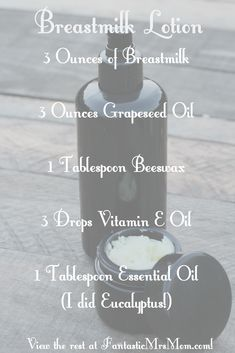 Need to get rid of those scars and stretchmarks and tighten your skin? My breast milk lotion recipe is for you!