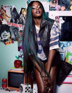 Dazed Digital | Dazed & Confused September issue: Azealia Banks Blows Up/LEATHER WAISTCOAT BY HAIDER ACKERMANN; AMERICAN FOOTBALL JERSEY FROM ROKIT; NYLON SHORTS FROM AMERICAN APPAREL; STUDDED BANGLE BY FRANCESCO DECIO; BRACELET BY CARTIER, AZEALIA BANKS'S OWN
