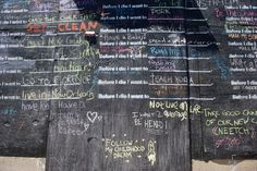 'Before I Die' by Candy Chang - Amazing Motivational Street Art Project Mind Reading Tricks, Before I Die, The Kingdom Of God, Public Art, Thought Provoking, Art Projects, Street Art, Cool Designs, Mindfulness