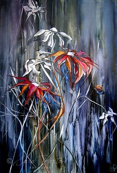 Happy Australia Day everyone here is Flannel Flowers by Sara Paxton, enjoy and have a wonderful day.    www.sarapaxtonart...