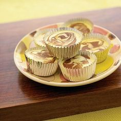 Mini Cocoa Swirl Cheesecake - South Beach Diet Recipes