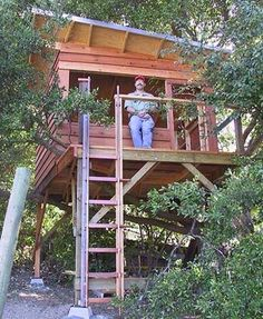 This treehouse sleeps 4 children and 1 adult.  Looks cool.
