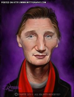 Liam Neeson Caricature #art #Caricature #cool.        ***For more great pins go to @KaseyBelleFox