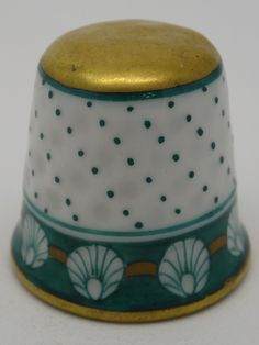 Herend Thimble. 200. Porcelana. Hungria. Thimble-Dedal-Fingerhut.