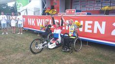 Nederlands kampioen Hand-Biken vrouwen (Uit Den Bosch ) Laura