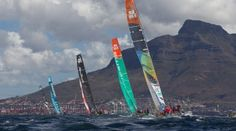 The V Waterfront In-Port Race in Cape Town, South Africa.  Credit : VOR