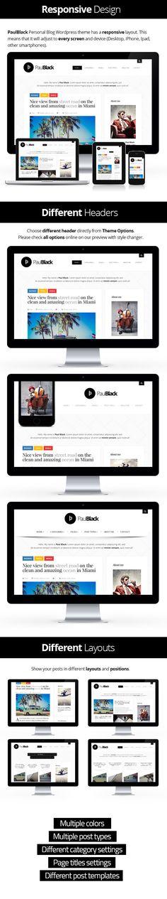 PaulBlack – Personal Blog WordPress Theme