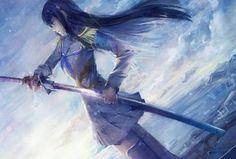 剣を抜刀する少女の壁紙 | 壁紙キングダム PC・デスクトップ版