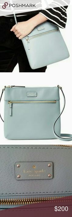 Kate Spade Crossbody Bag-Grove Street Rima Just selling for a friend. Brand new with tag. No flaws. No dust bag. Innocent color of baby blue or pastel blue. Great Holiday and Birthday gift. Come from pet/smoke free home. Please feel free to ask questions. Kate Spade Bags Crossbody Bags