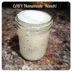 Money Saving Mommas and Poppas: Recipe: EASY Homemade Ranch Homemade Ranch Dressing, Ranch Dressing Mix, How To Make Ranch, Ranch Recipe, Cooking Ingredients, How Sweet Eats, Sauce Recipes, Cooking Tips, Food To Make