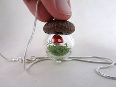 Acorn Terrarium Pendant Necklace by ManyMinis on Etsy, $40.00