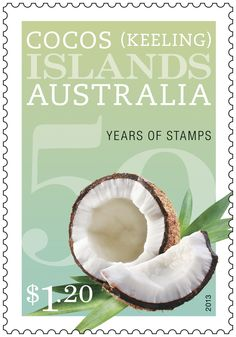 A coconut on our Cocos (Keeling) Islands Stamps