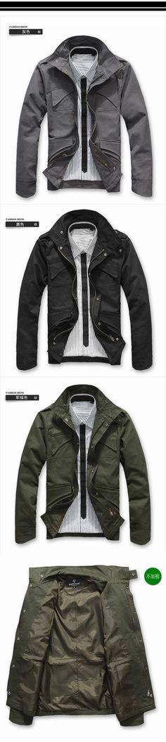Tab Collar Flap-Pocket Jacket