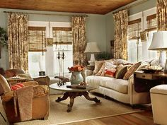 Cottage Style Interior Living Room Decorating Ideas Design