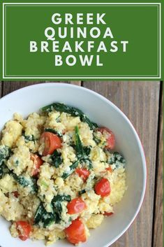 Quinoa breakfast bowls have become a new favorite breakfast recipe of mine. I can quickly whip together a batch to refrigerator or freeze fo. Cheesy Zucchini Rice, Chicken Zucchini, Quinoa Breakfast Bowl, Breakfast Recipes, Egg Dish, Spinach And Feta, How To Cook Quinoa, Other Recipes, Freeze