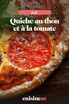 Cette recette de quiche au thon et tomate est une pâtisserie salée facile à réaliser.  #recette#cuisine#quiche #thon #tomate#patisseriesale #ete