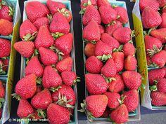 Strawberries at the Farmers' Market today. Photo © 2014 Ann M. Del Tredici