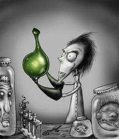 """""""Vincent"""" an animated short by Tim Burton-   http://www.youtube.com/watch?v=fxQcBKUPm8o#  or check it out in my video section"""