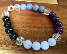 Anger and Stress Relief - Healing Crystal Bracelet This bracelet is for when you feel Stress, Angry, or Frustrated with a situation, person, or just in general. Use to calm yourself and to protection