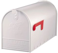 Amerikaanse brievenbus wit