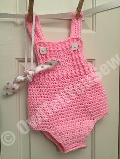 Crochet Baby Romper! Etsy store coming soon