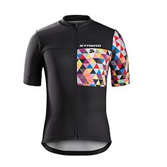 Mens Full Zipper Breathable Short Sleeves Cycling Jersey Biking Top Wear Size 5XL *** For more information, visit image link.Note:It is affiliate link to Amazon.