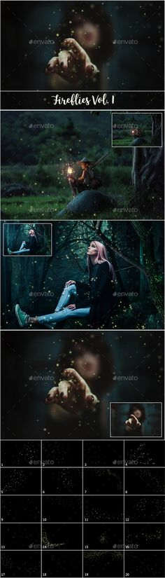 Fireflies Overlays by FaeryDesign You will get 20 Fireflies Overlays (5280px x 2880px, 300dpi each file). All the files are in jpg format. They are easy to use. Th