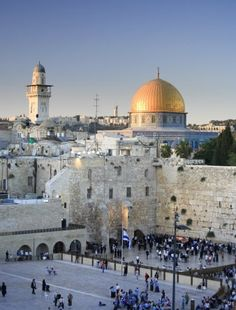 La Ciudad Vieja, el Muro de las Lamentaciones, la Iglesia del Santo Sepulcro, la Cúpula de la Roca, Jerusalén.