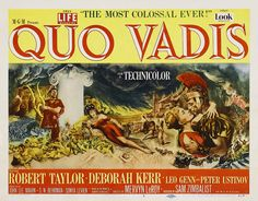 Quo Vadis (1951) This film concerns the romance between a beautiful early Christian woman and an initially agnostic Roman gladiator. This love story is laid against the larger intrigues of the debauched emperor Nero, who hopes to gain immortality by destroying Rome with a fire and remaking it in his own image.