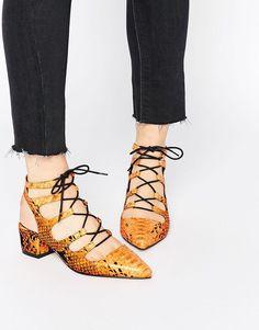 ASOS   ASOS STREETS AHEAD Pointed Lace Up Heels at ASOS