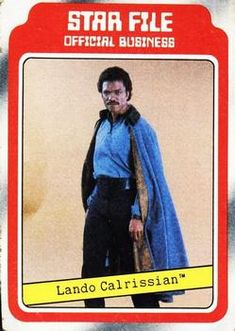 1980 Topps The Empire Strikes Back Lando Calrissian Front Sports Gallery, Tribal Warrior, Lando Calrissian, Disney Cards, Star Wars Merchandise, Rebel Alliance, Original Trilogy, Title Card, The Empire Strikes Back