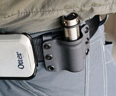 KYDEX HOLSTER FOR LIGHT.  Would like to try this same design but using leather...bet it would be sharp.